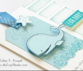 Custom For Baby Whale Card by The Leaf Studio. FREE shipping