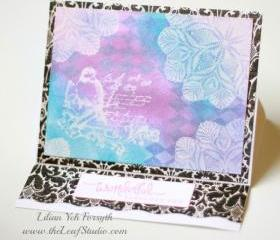 Wonderful Fabulous You Easel Card by The Leaf Studio. FREE shipping